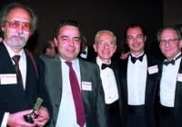 Schilder fotografato insieme ai suoi allievi italiani. Da sinistra, Gianfranco 53 54 55 56 57 Vignoletti, Giorgio Lavagnoli, Cristiano Fabiani, Arnaldo Castellucci.